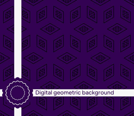 The geometric abstract pattern. Seamless vector background.