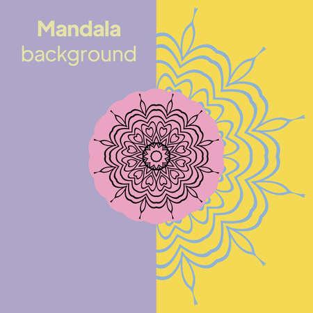Flower Round Mandala. Vintage decorative elements. Oriental pattern, Vector illustration. Illusztráció