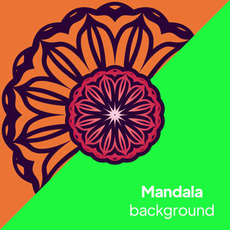 Vector Beautiful Contour Flower Mandala. Vector illustration