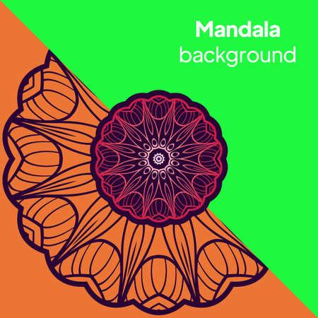 Ornament card with mandala. Geometric circle element. Vector illustration Illusztráció