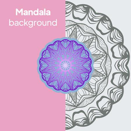 Flower Mandala. Vintage decorative elements. Oriental pattern. Vector illustration.