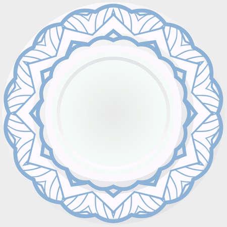 Modern and simple flower illustration. Round rosette. Vector illustration