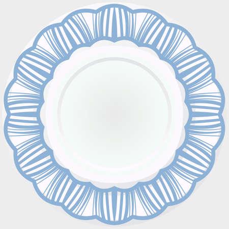 Easy mandala like flower. Round rosette. Vector iilustration