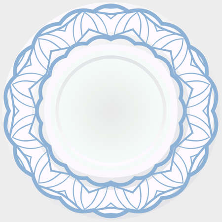 Abstract decorative floral ethnic round ornamental. Vector illustration.