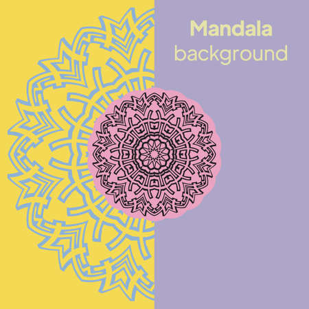 Luxury mandala background with arabesque pattern a for Wedding card, book cover. Vector illustration Illustration