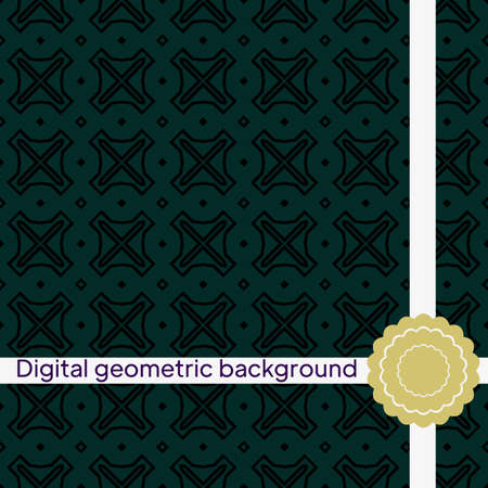 Geometric Background for printing on paper, wallpaper, covers, textiles, fabrics, for decoration, decoupage, scrapbooking. Vector illustration