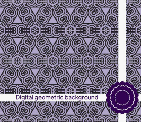 Modern Geometric Pattern. Vector illustration. For fabric, textile, bandana, scarg, super print