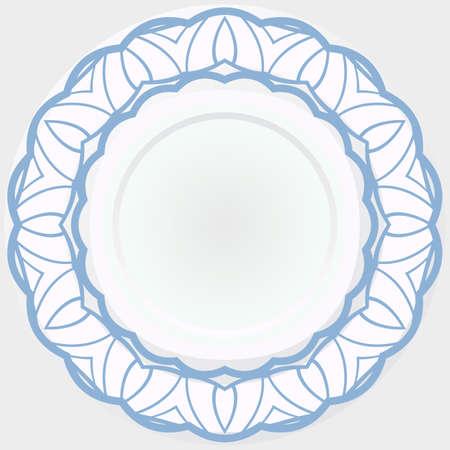 Ornamental Abstract floral design rosette. Vector illustration
