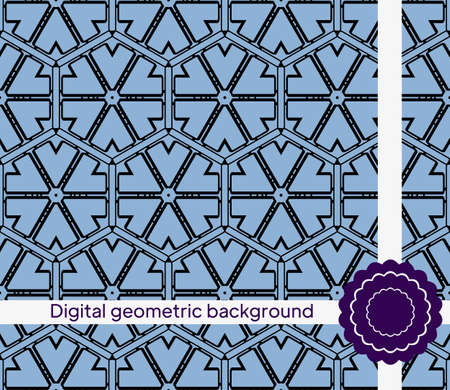 creative interior geometric seamless pattern. Vector illustration. for fabric, decor, design, wallpaper Ilustração