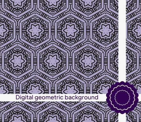 creative interior geometric seamless pattern. Vector illustration. for fabric, decor, design, wallpaper Illusztráció