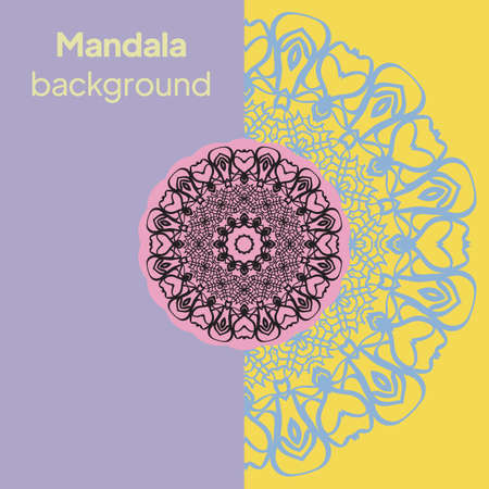 Vector Beautiful Contour Flower Mandala. Vector illustration Imagens - 163157221