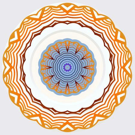 mandala image for relaxing. vector illustration Ilustração