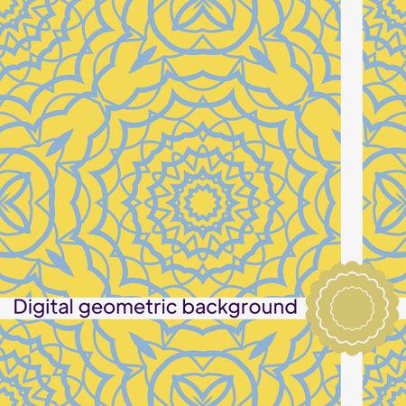geometric decorative seamless pattern. vector illustration. for interior design, wallpaper, textiles Ilustração