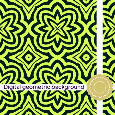 Seamless geometric pattern. Vector illustration for interior design, invitation, wallpaper Imagens - 163157243