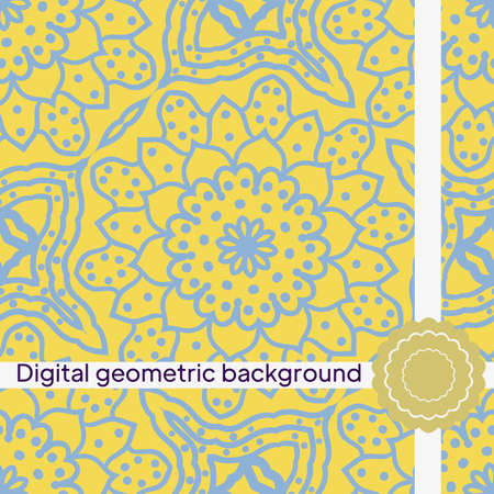 Geometric Background for printing on paper, wallpaper, covers, textiles, fabrics, for decoration, decoupage, scrapbooking. Vector illustration Imagens - 163157233