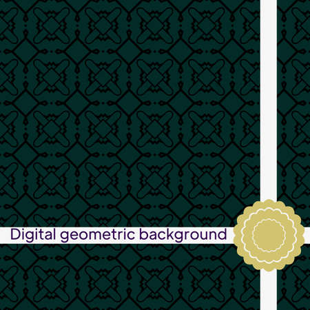 Abstract geometric pattern with lines, rhombuses, geometric shape A seamless vector background. Imagens - 163157242