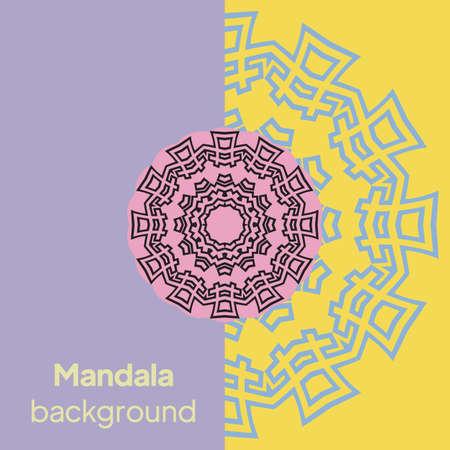 Round mandala on background. Vector boho mandala Ilustração