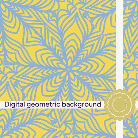 Vector seamless pattern, geometric background Imagens - 163157245