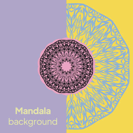 Flower Mandala. Oriental pattern, vector illustration. Islam, Arabic, Indian, moroccan
