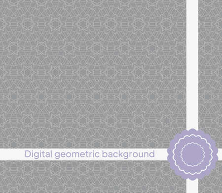 mirror seamless pattern with abstract floral and leave style. Repeating sample figure and line. For modern interiors design, wallpaper, textile industry. Vector illustration