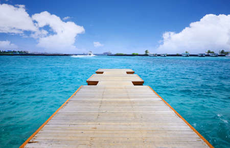 beautiful Broad walk in Maldives