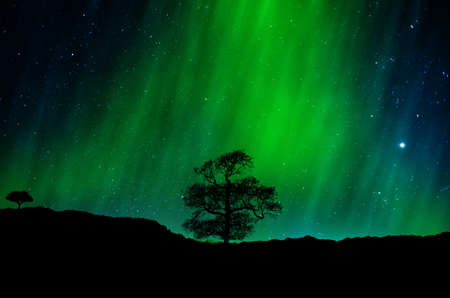 Spectaculaire aurora borealis