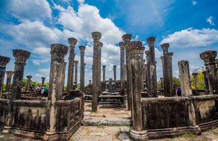 Watadage ancient ruins at Polonnaruwa in Medirigiriya, Sri Lanka