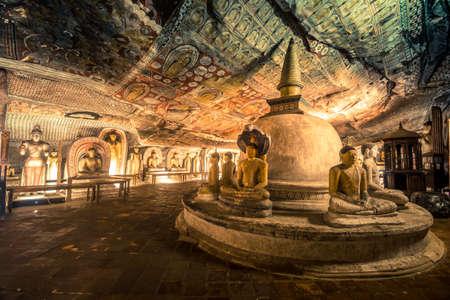 Buddha statues in Dambulla Cave Temple, Srilanka