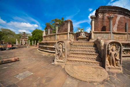 De ruïnes van Polonnaruwa, Watadageya - Sri lanka Stockfoto