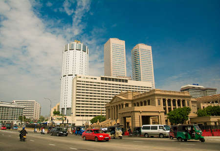 World Trade Center en Bank of Ceylon gebouwen op 24 oktober 2014in, Sri Lanka.