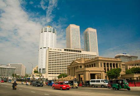 World Trade Center y Bank of Ceylon edificios en 24 2014in de octubre de Sri Lanka. Foto de archivo - 64652710