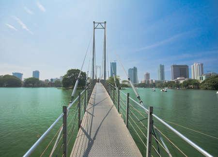 Colombo Gangaramaya - Boardwalk 스톡 콘텐츠