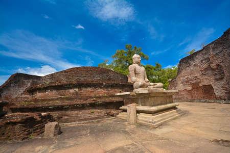 Antigua Polonnaruwa Watadageya - Sri Lanka Foto de archivo - 59723523