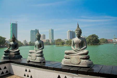 Colombo Gangarama seemamalaka boeddhistische tempel Stockfoto