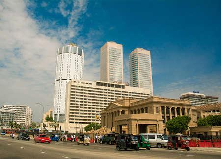 COLOMBO Sri Lanka. - 15 juni 2014, Colombo is de grootste stad en het commerciële, industriële en culturele hoofdstad van Sri Lanka. Redactioneel