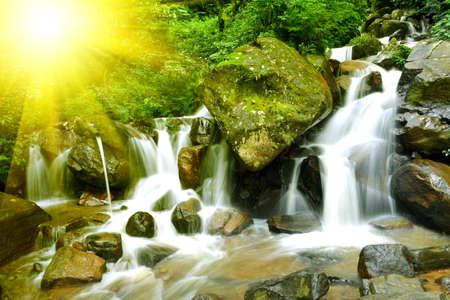 Beautiful stream at Nuwara eliya Sri Lanka