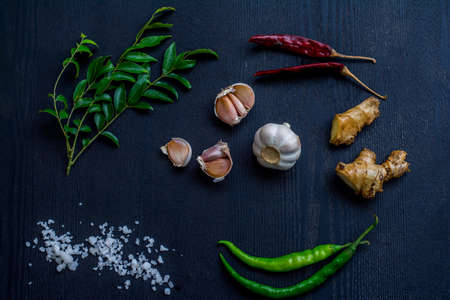 Sri Lankan and Indian spices on the table