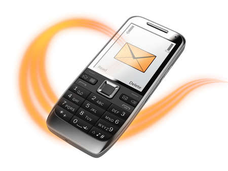 Acloseup of cell phone with incoming message Stock Photo - 17307001