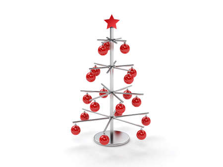 A metal christmas tree with decoration Stock Photo - 17306144