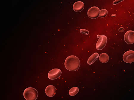 3d illustration of blood particles Stock Photo