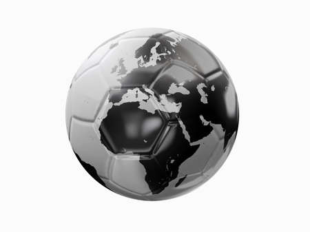 A soccer ball with world texture photo