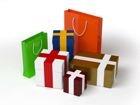 A packs and bags for presents and gifts Stock Photo - 17306284