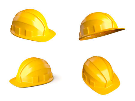 safety helmet: Set of 4 different views of helmets