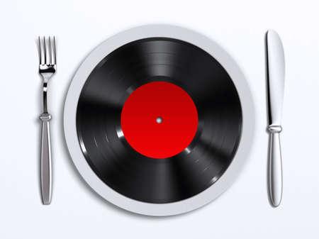 비닐 레코드와 요리