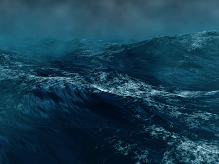 Hard storm in the sea Reklamní fotografie - 17307009