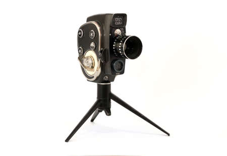 Old film video camera isolated Stock Photo - 17306140