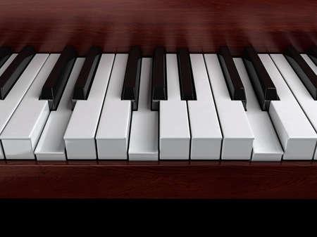 accord: G minor accord on piano Stock Photo