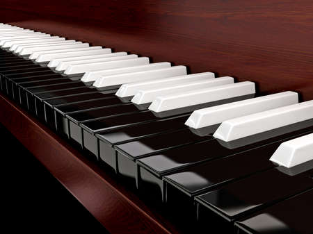 Black piano with inverted keys Stock Photo - 17307145
