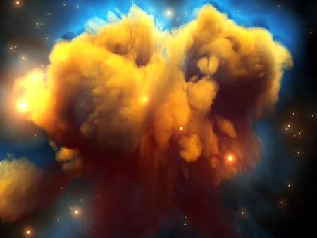 A big nebula in the space 免版税图像