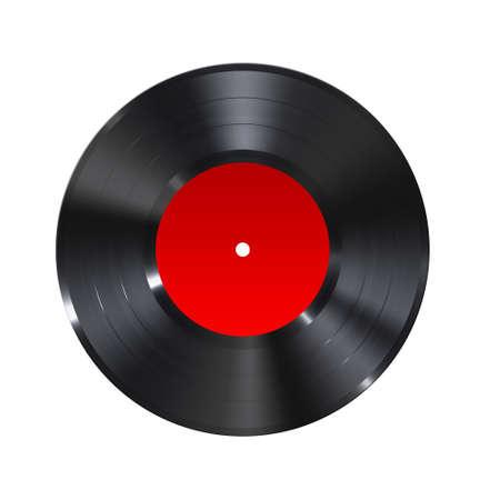 A black retro vinyl record
